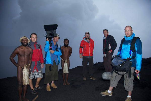 An Idiot Abroad series 2 crew - Malekula Volcano