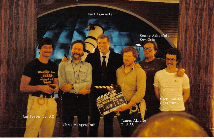 Local hero camera crew with Burt Lancaster
